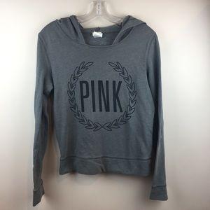 VS PINK grey logo hoodie